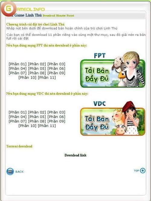 Linh Thú đã cho phép tải game và đăng ký tài khoản 1