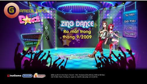 Zing Dance bất ngờ ra mắt trang chủ 1