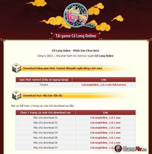Cổ Long Online: Cho đăng ký tài khoản và tải game 2