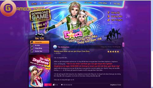 Zing Dance ra mắt trang chủ chính thức và công bố lộ trình thử nghiệm 1