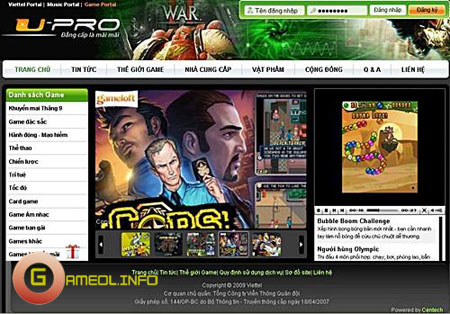Viettel cho ra mắt cổng thông tin game mobile 2