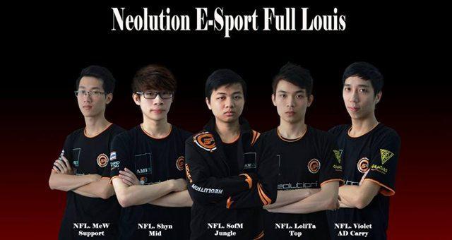 Lolita đã rời khỏi Neolution E-sports Full Louis