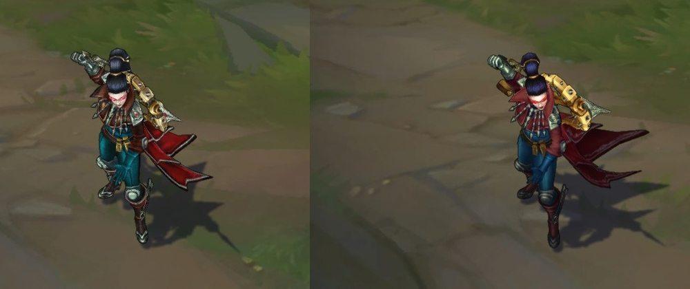 Phiên bản cũ (trái) và phiên bản mới (phải)