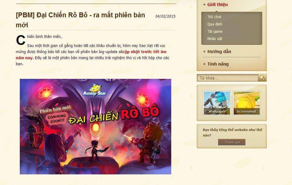 Avatar Star là trò chơi duy nhất còn vận hành của FPT Online