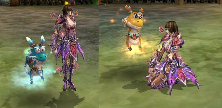 Long Vương (trái) và Long Nương (phải)