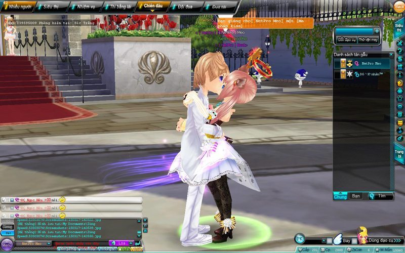 Nhân vật trong game của Ngọc Thạch và Linh Chi