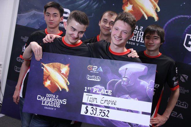 Team Empire nhận được 50% tổng giải thưởng của D2CL Season 5