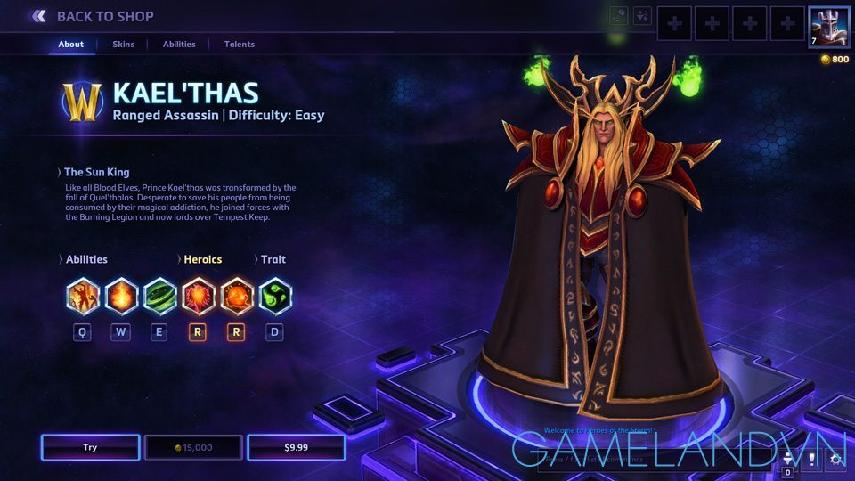 Kael'thas Heroes of the Storm