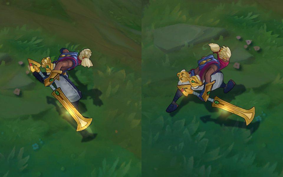 Ekko Bão Cát trước (phải) và sau (phải) chỉnh sửa