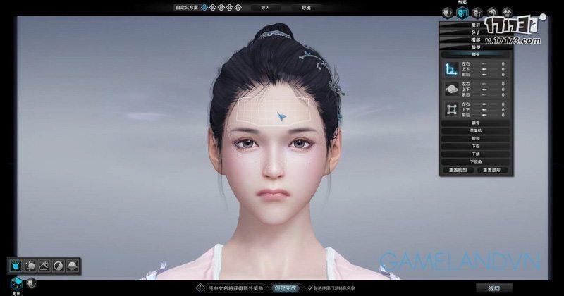 Tạo hình khuôn mặt của Thiên Hương (nữ)