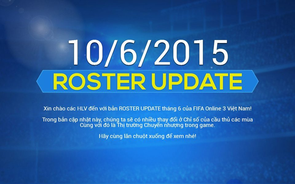 fifa online 3 roster update
