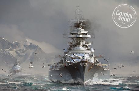 Tàu chiến Đức sắp có mặt trong World of Warships 8