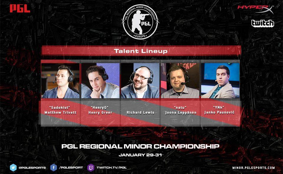 PGL hé lộ dàn sao tại PGL Regional Minor Championship: Europe