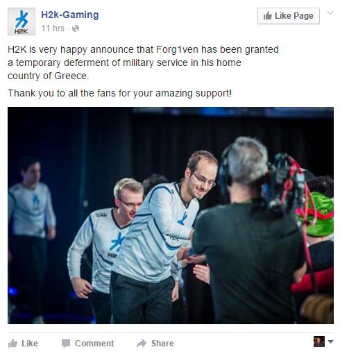 LMHT: Forg1ven được tạm hoãn thực hiện nghĩa vụ quân sự