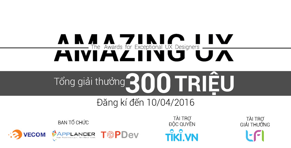 Applancer tổ chức cuộc thi Amazing UX