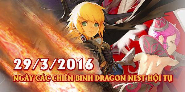 Dragon Nest Việt Nam ra mắt vào ngày 29/03/2016