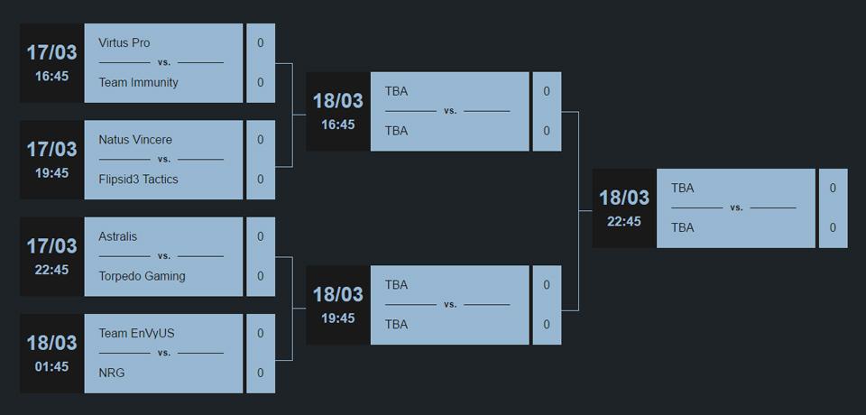 Lịch thi đấu của Counter Pit League Season 2 (cập nhật theo giờ Việt Nam).