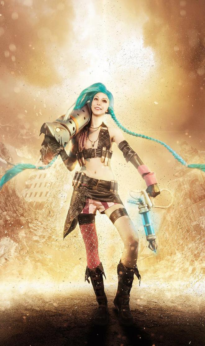 Ngắm cosplay Jinx cực đẹp của Manyasha - Ảnh 02