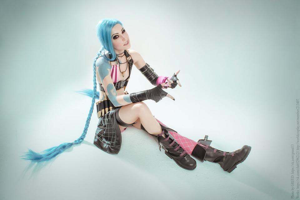 Ngắm cosplay Jinx cực đẹp của Manyasha - Ảnh 11