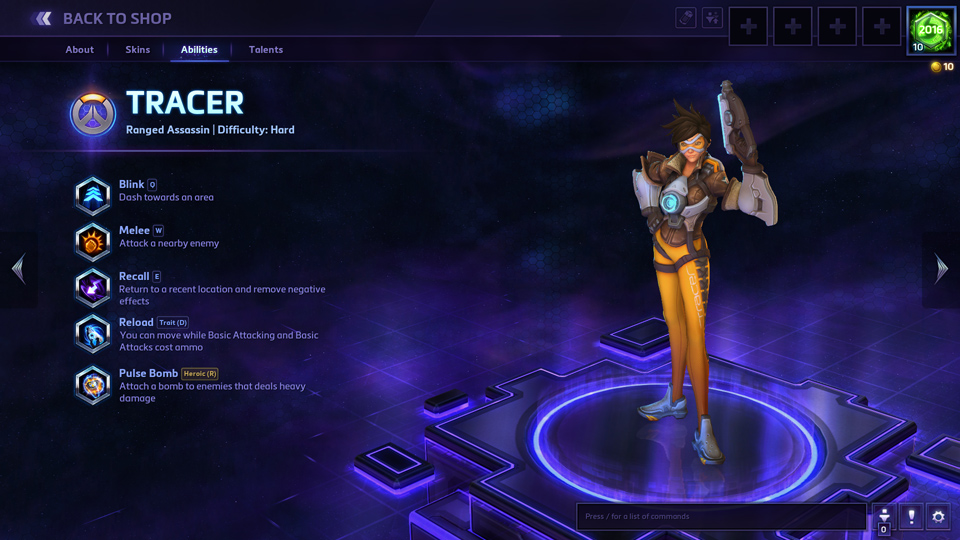 Tracer Heroes of the Storm
