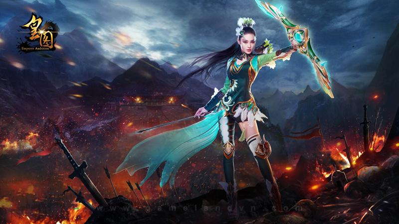 Một vài hình ảnh quảng cáo webgame Vương Giả tại Trung Quốc