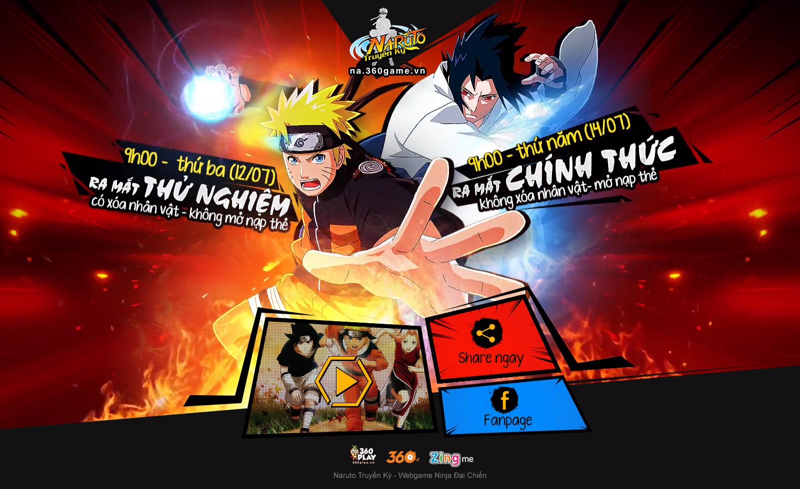 VNG phát hành webgame mới Naruto Truyền Kỳ