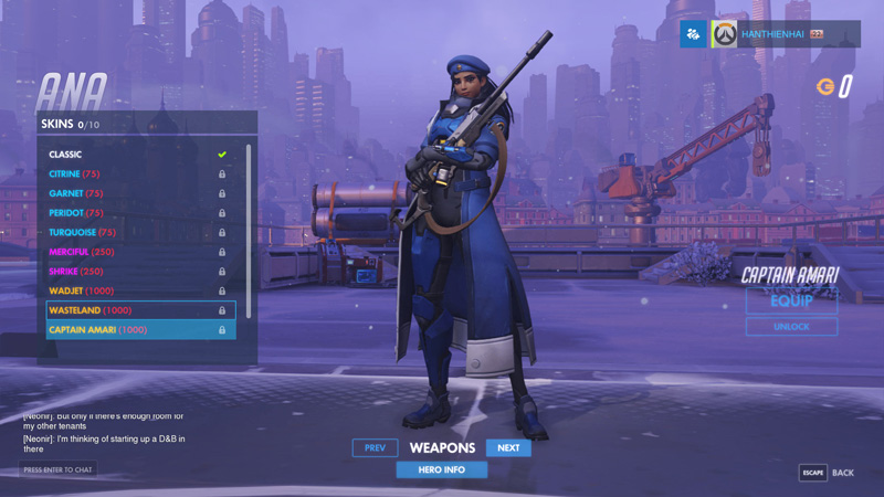 Ana Captain Amari (1000 Credit)