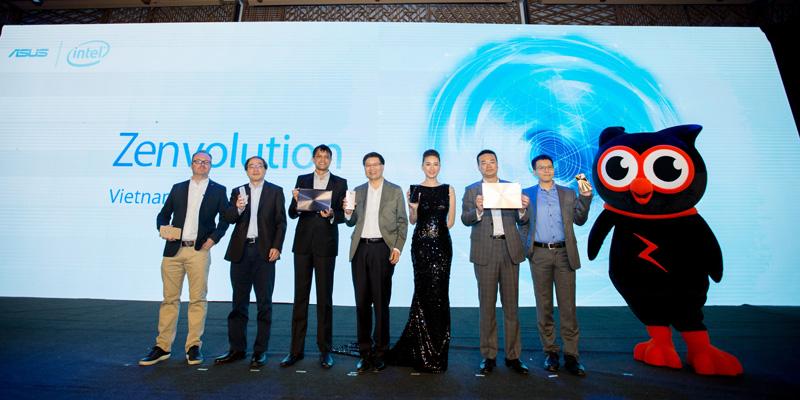 Các quan chức của ASUS, Intel và đại sứ Ngô Thanh Vân tại sự kiện Zenvolution Việt Nam