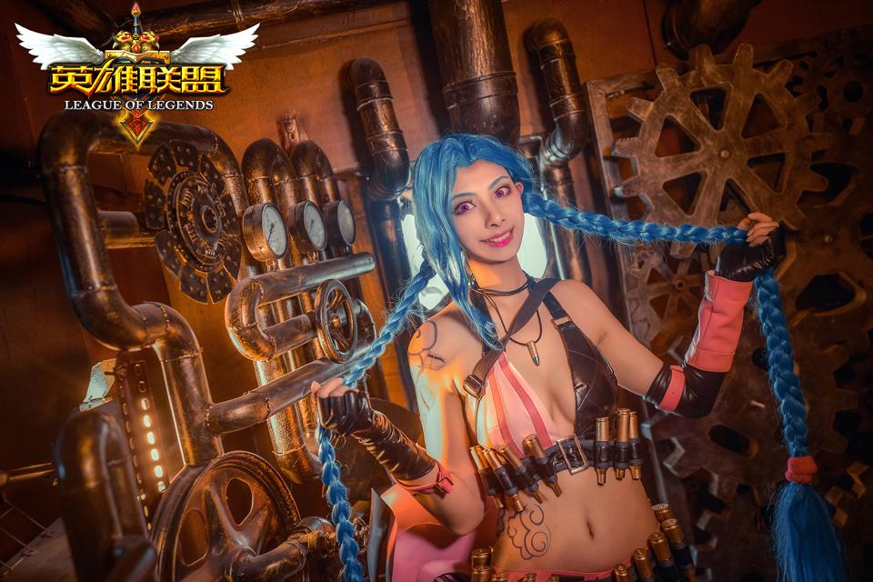 Ngắm cosplay Jinx tuyệt đẹp của Hồng Trà Thập Bát