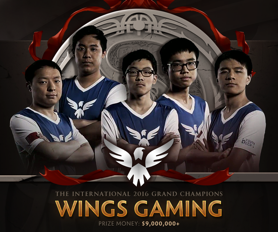 Wings Gaming, nhà vô địch The International 2016. Ảnh: Wykrhm Reddy.