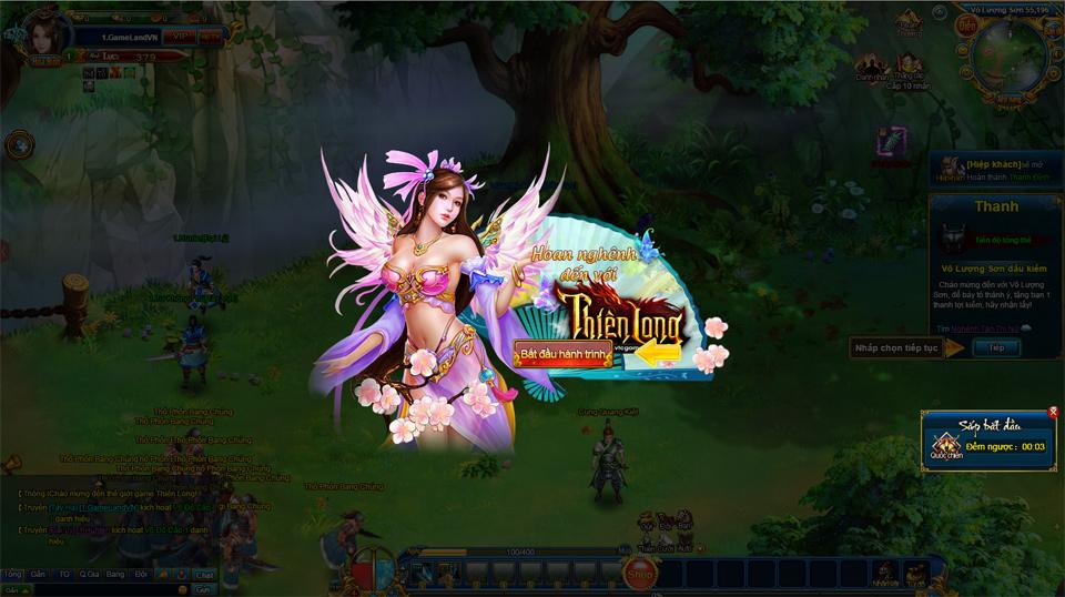 GameLandVN tặng giftcode webgame Thiên Long