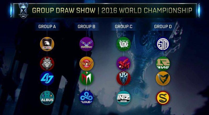 LMHT: Kết quả chia bảng chung kết thế giới 2016