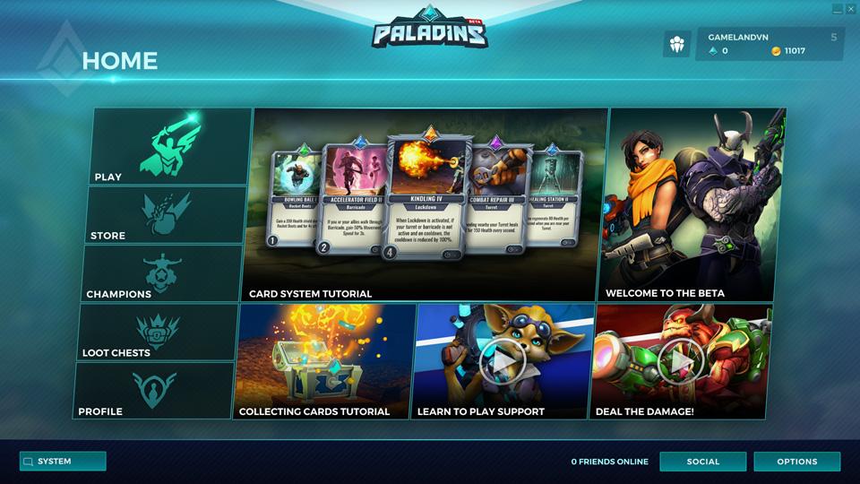 Paladins mở cửa Open Beta, có mặt trên Steam