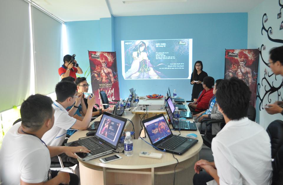 Toàn cảnh buổi giới thiệu Đồ Long Ký tại văn phòng VTC Game ở TP.HCM