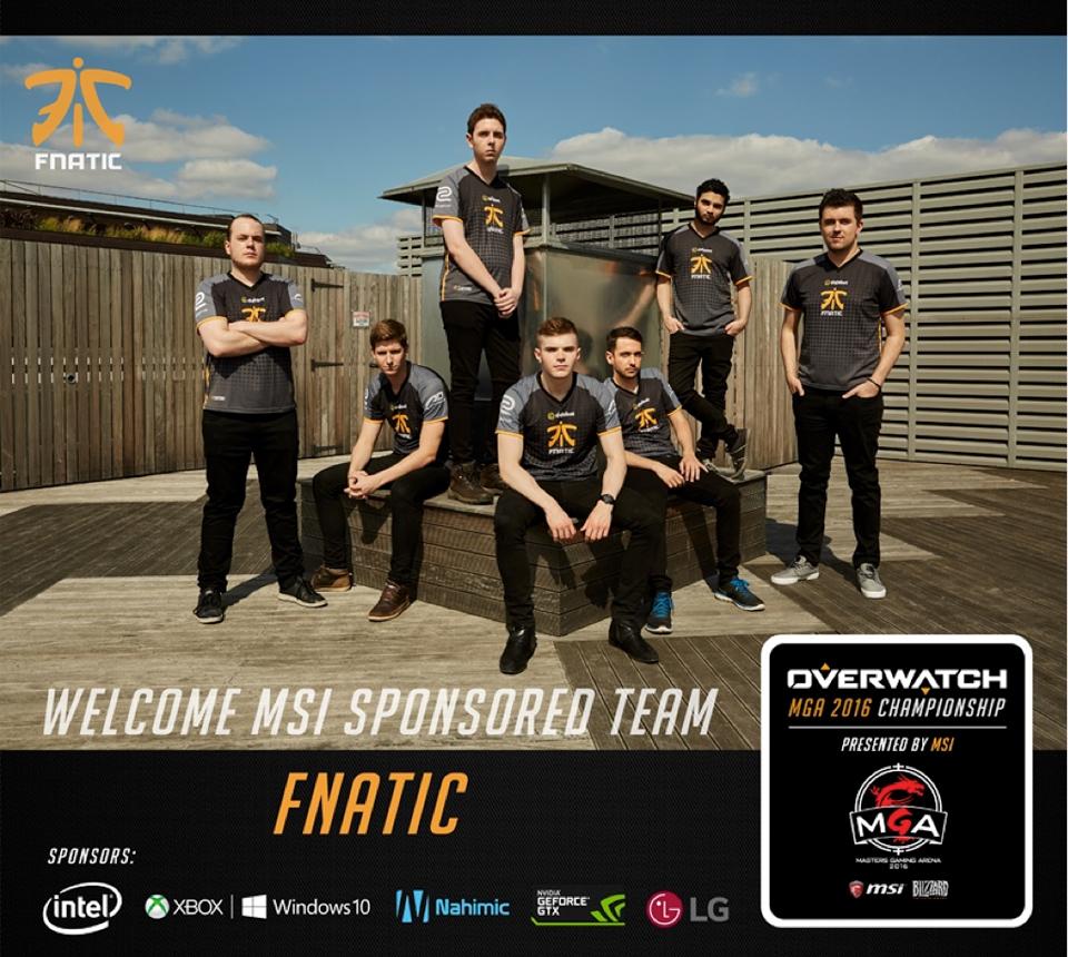 Fnatic là đội tuyển khách mời của MSI MGA 2016