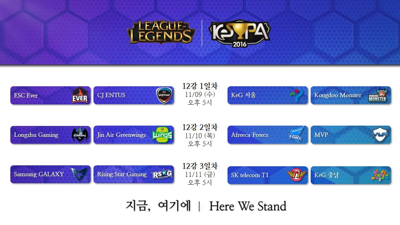 Lịch thi đấu vòng loại LoL KeSPA Cup 2016