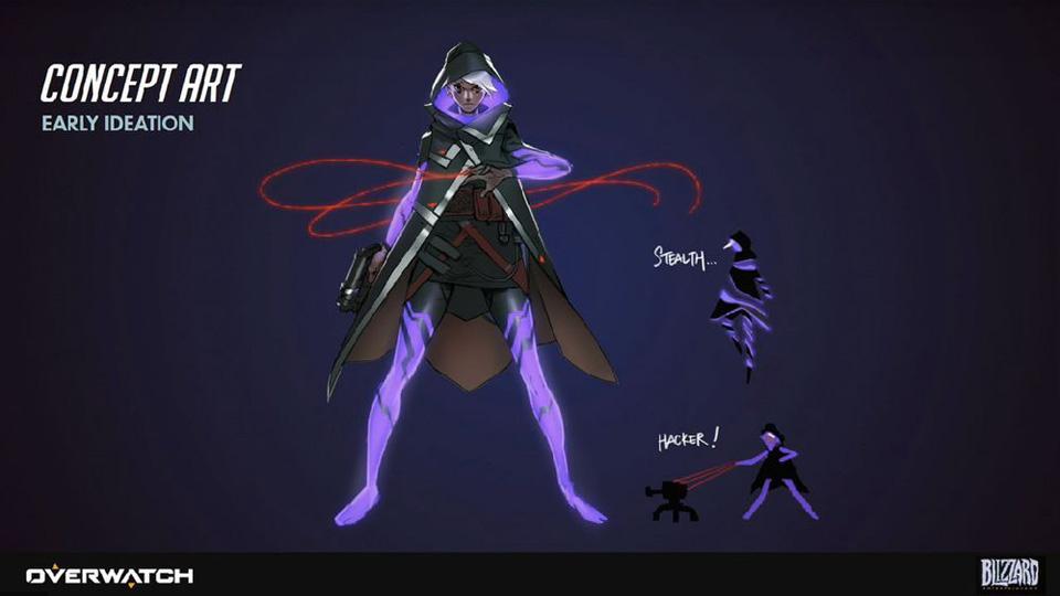 Sombra phiên bản sau khi Blizzard Entertainment công bố cô nàng này là một hacker. Phiên bản này trông khá giống Ana nhưng sở hữu khả năng tàng hình và hack kĩ năng của người khác như hiện tại.