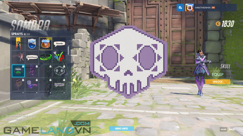 Sombra spray in Overwatch - Screenshot 14