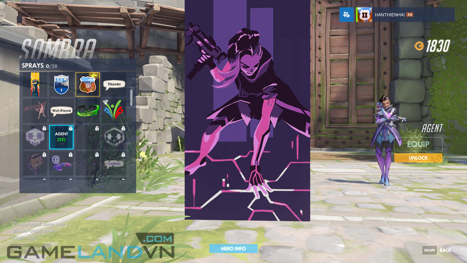 Sombra spray in Overwatch - Screenshot 15
