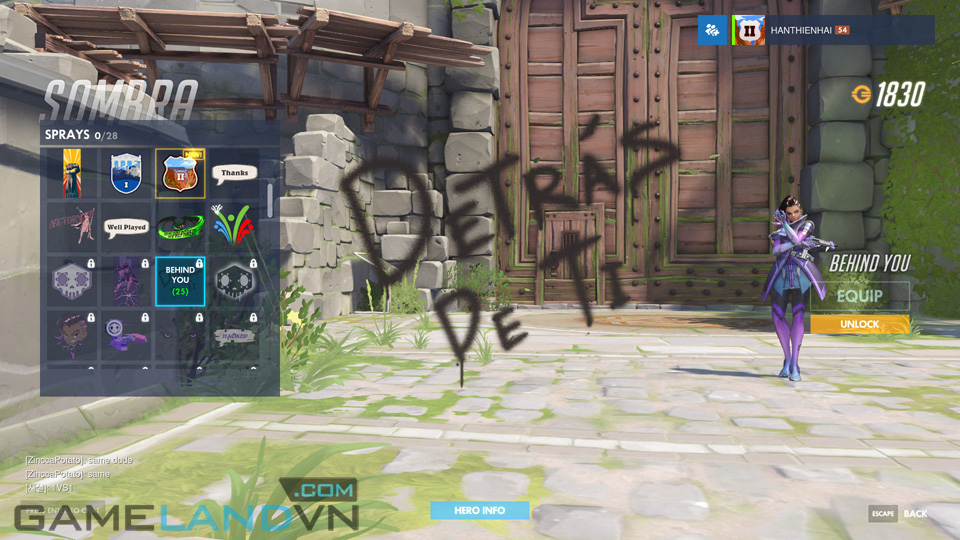 Sombra spray in Overwatch - Screenshot 16