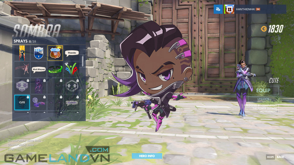 Sombra spray in Overwatch - Screenshot 18