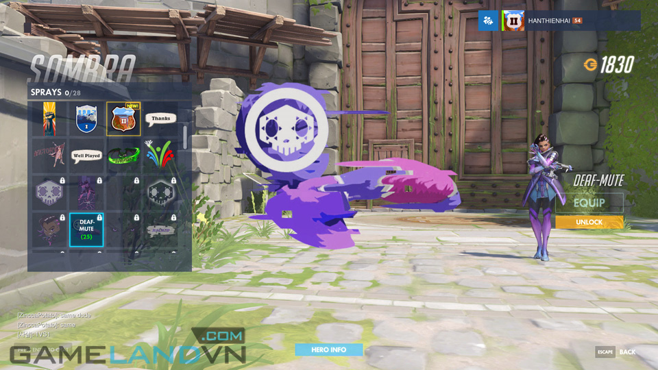 Sombra spray in Overwatch - Screenshot 19