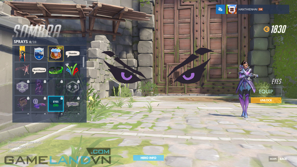 Sombra spray in Overwatch - Screenshot 20