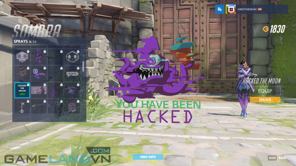 Sombra spray in Overwatch - Screenshot 22