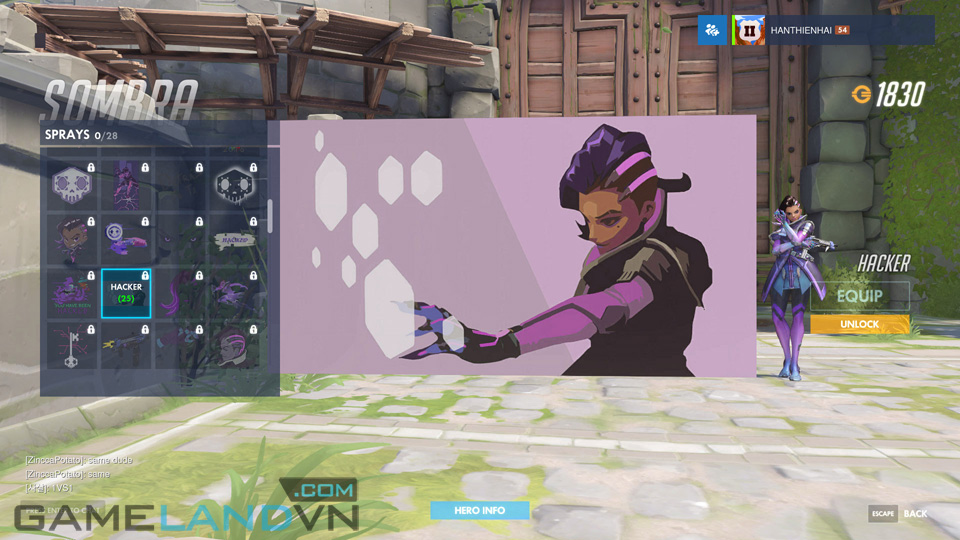 Sombra spray in Overwatch - Screenshot 23