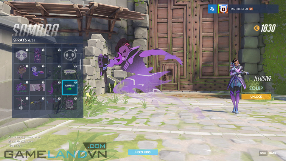 Sombra spray in Overwatch - Screenshot 25