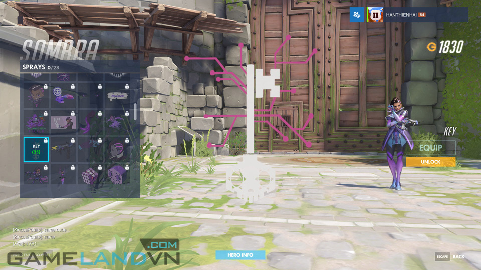 Sombra spray in Overwatch - Screenshot 26
