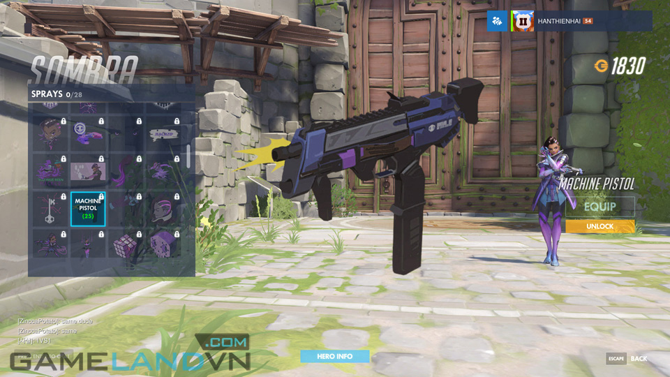 Sombra spray in Overwatch - Screenshot 27