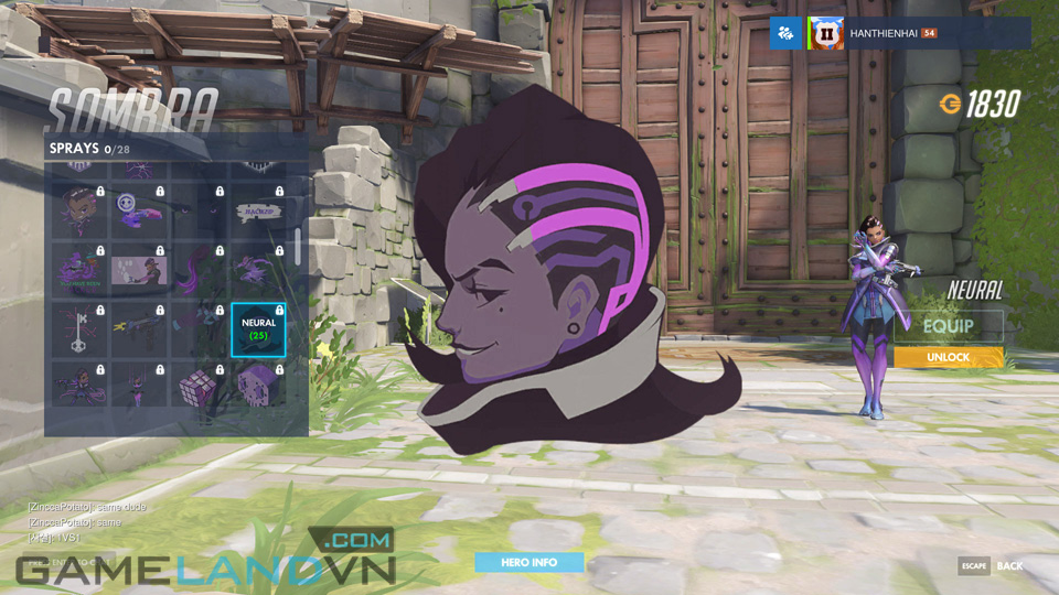 Sombra spray in Overwatch - Screenshot 29
