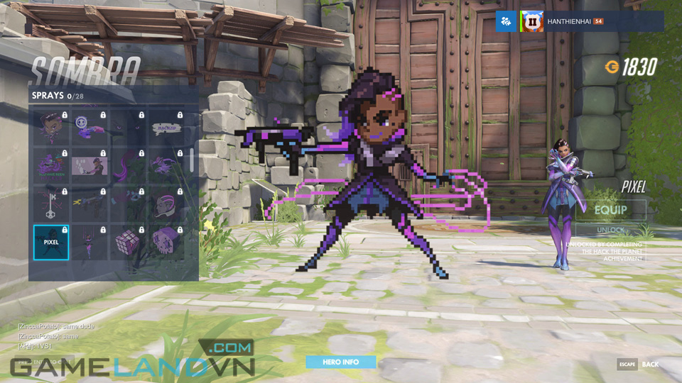 Sombra spray in Overwatch - Screenshot 30
